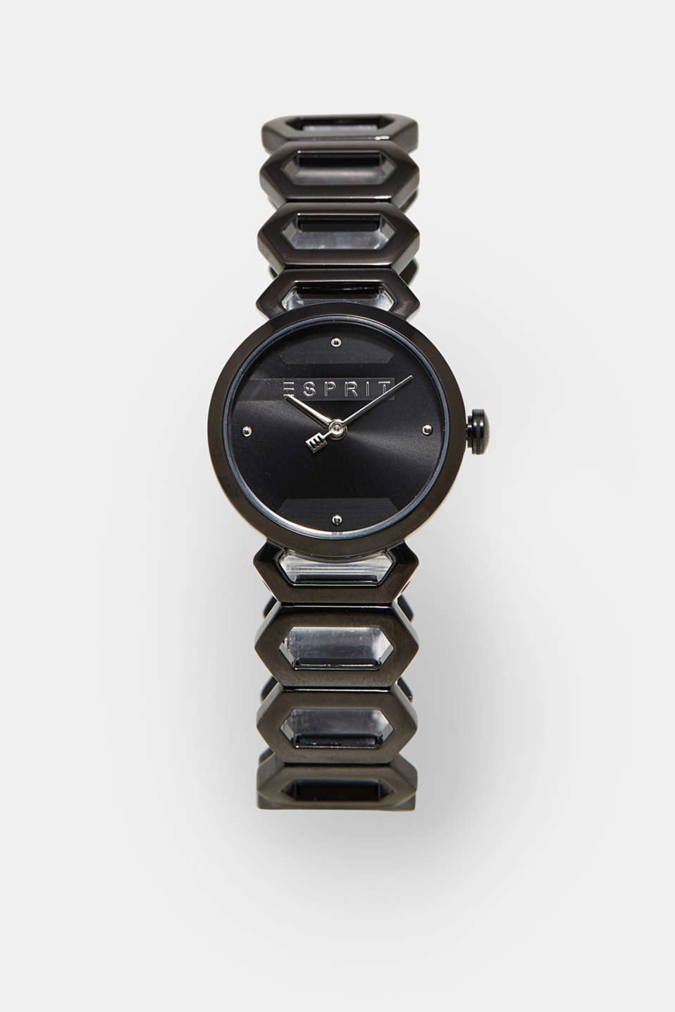 Esprit - Stainless steel watch with black alloy
