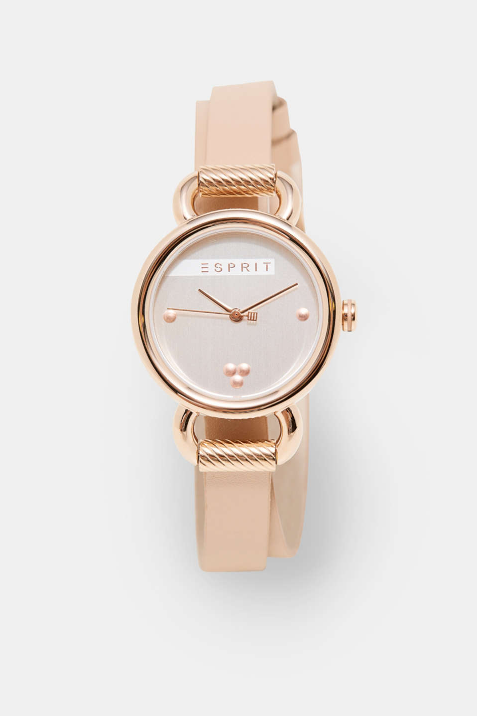 Esprit - Watch with double leather strap