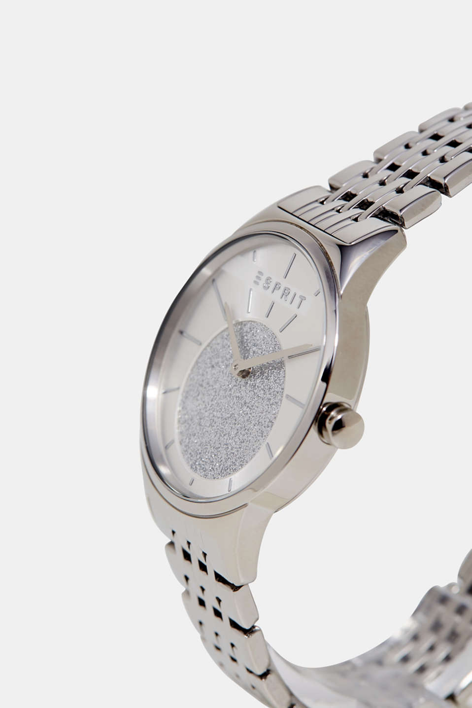 Watch with glittering dial