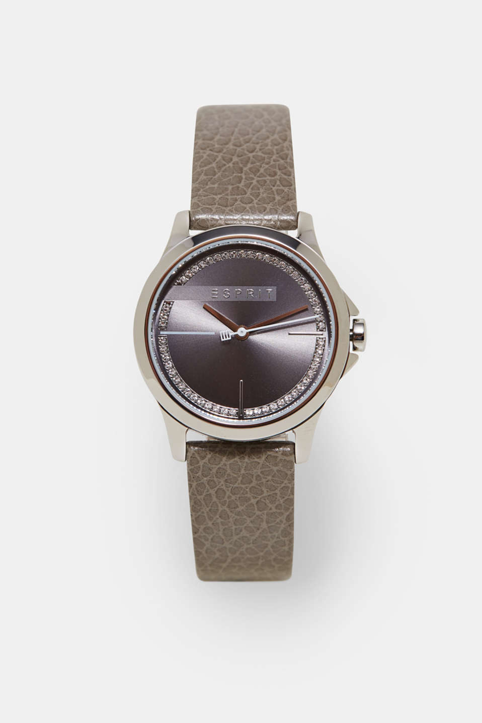 Esprit - Watch with zirconia and leather strap