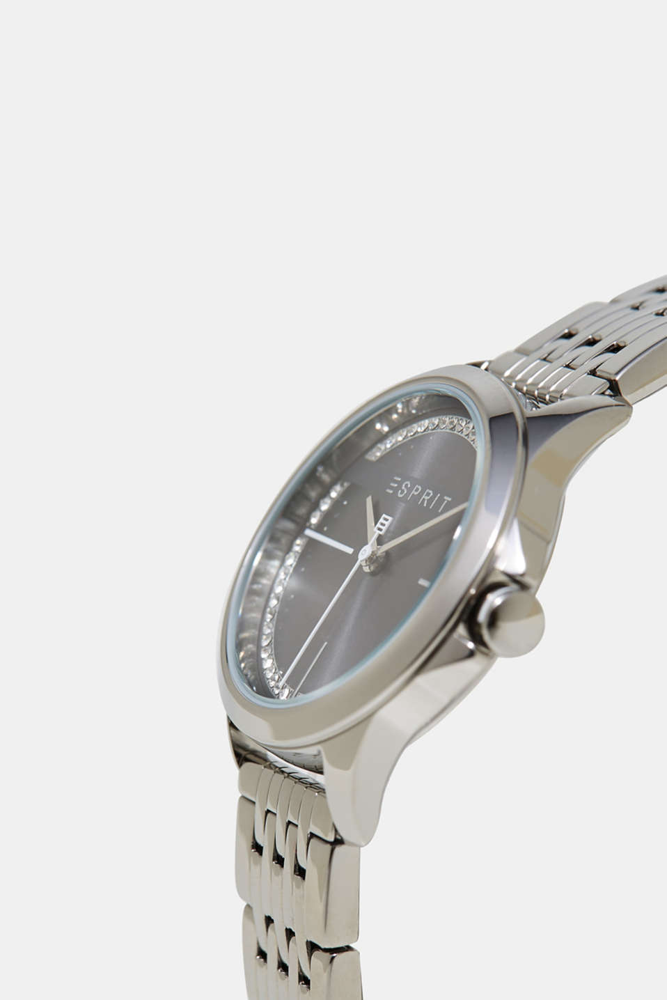 Watch with a dial set with zirconia