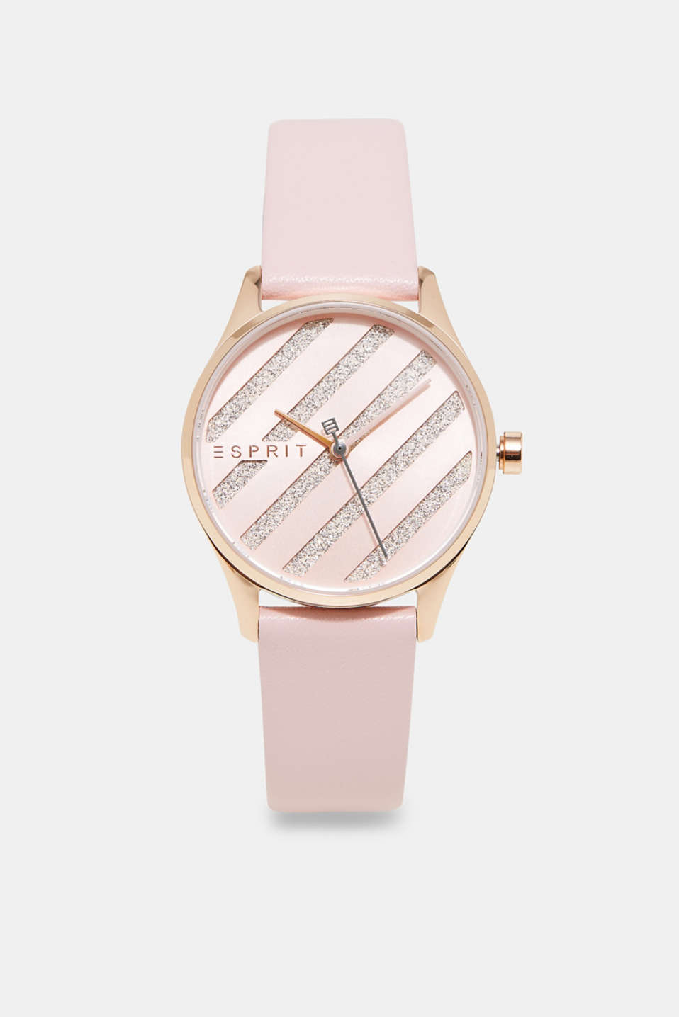 Esprit - Stainless steel with pink leather strap