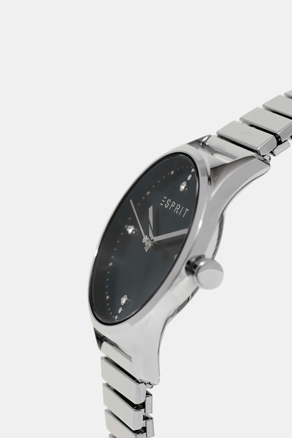 Watch with an elasticated link strap