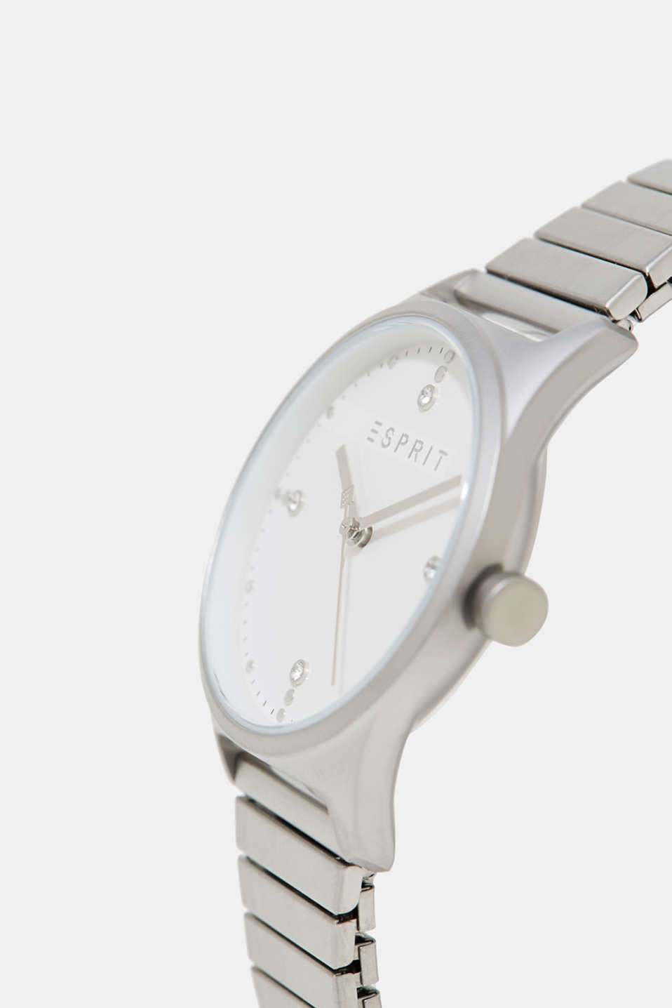 Watch with an elasticated matte strap