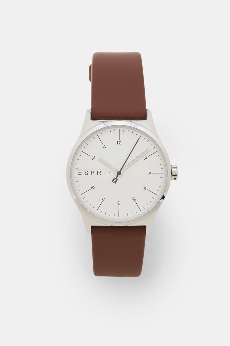 Esprit - Stainless steel watch with a leather strap