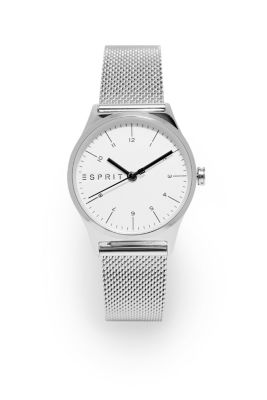 Stainless steel watch with a Milanese strap, SILVER, detail