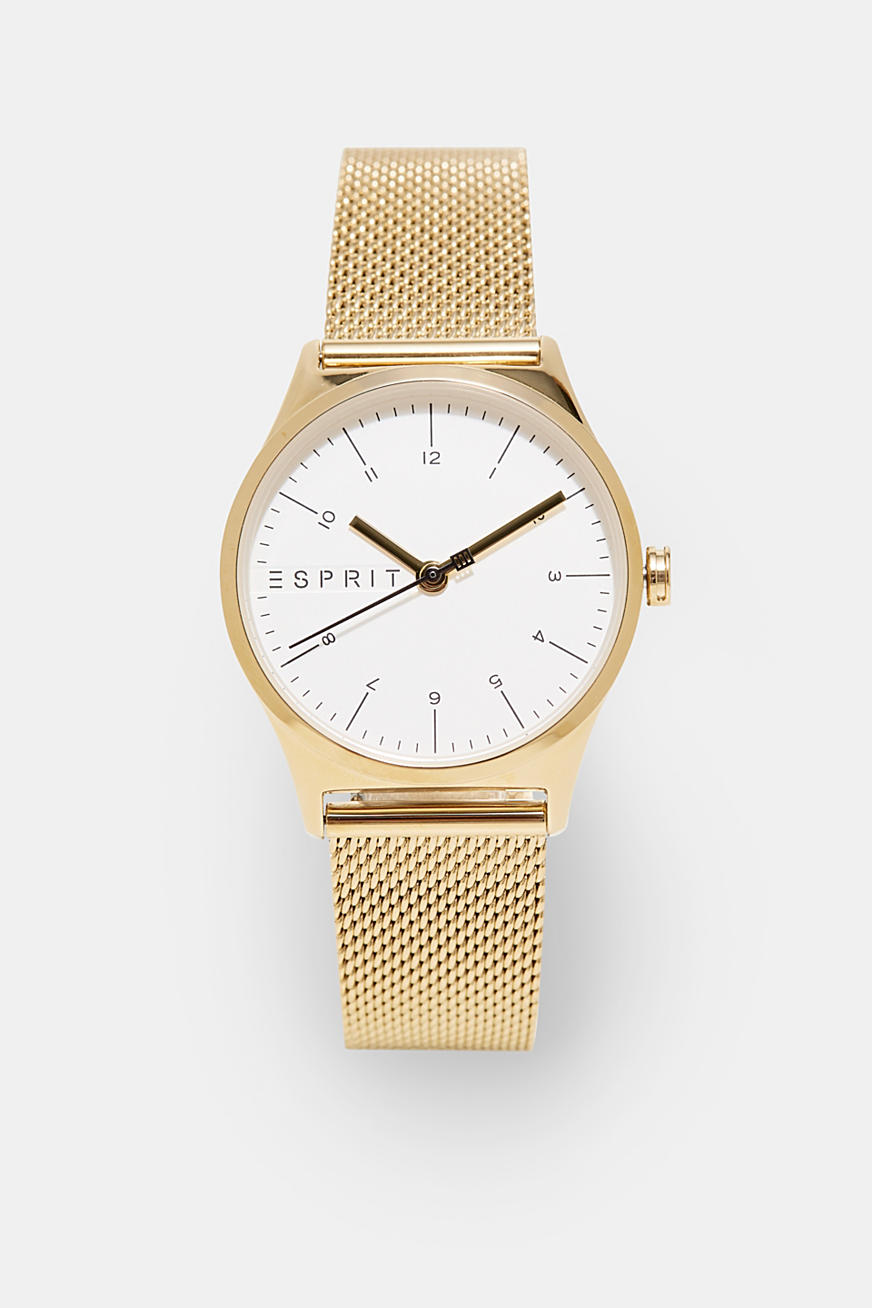 Stainless steel watch with a Milanese strap