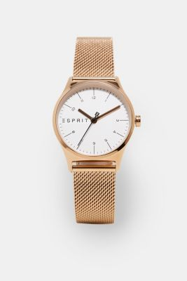 Timeless rose gold coloured wristwatch, ROSEGOLD, detail