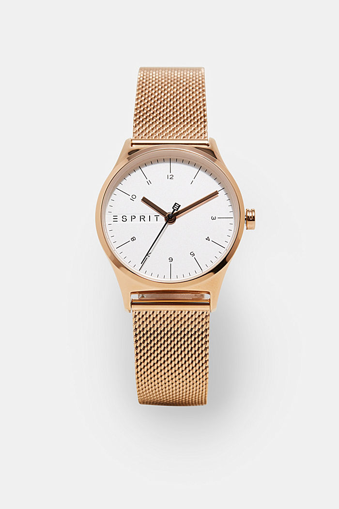 Timeless rose gold coloured wristwatch