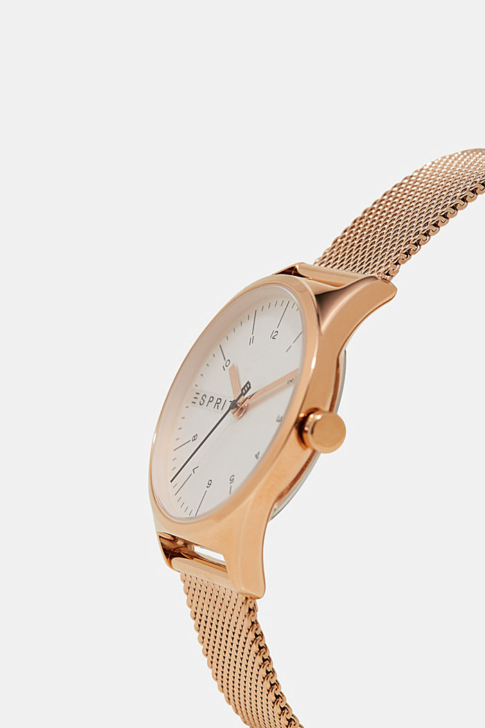 Timeless rose gold coloured wristwatch, ROSEGOLD, detail image number 1