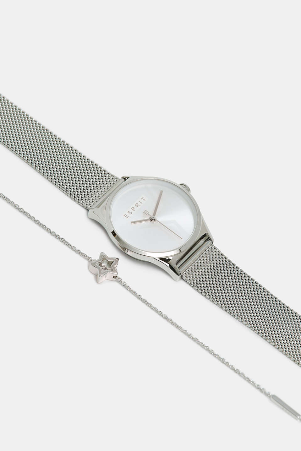 Esprit - Watch and bracelet set, in stainless steel