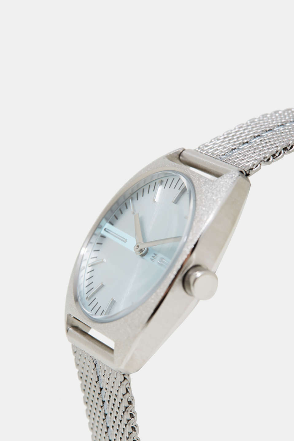 Watch with a stainless Milanese strap