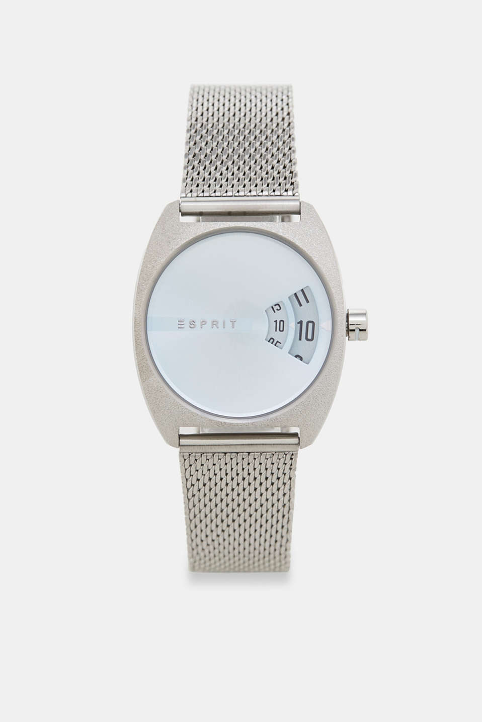 Esprit - Steel digital watch with a Milanese strap