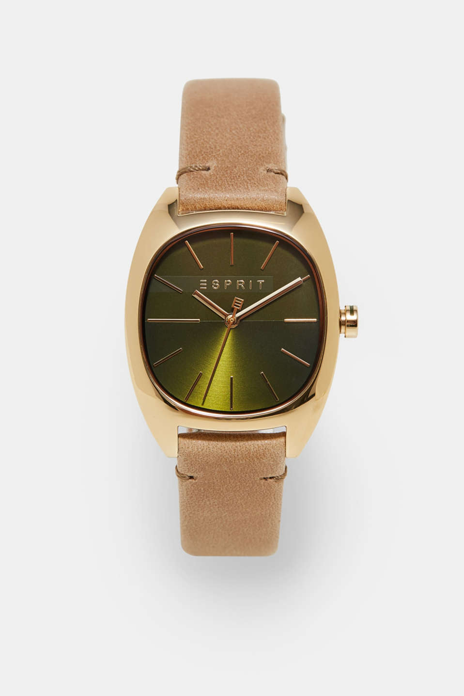 Esprit - Watch with a suede strap
