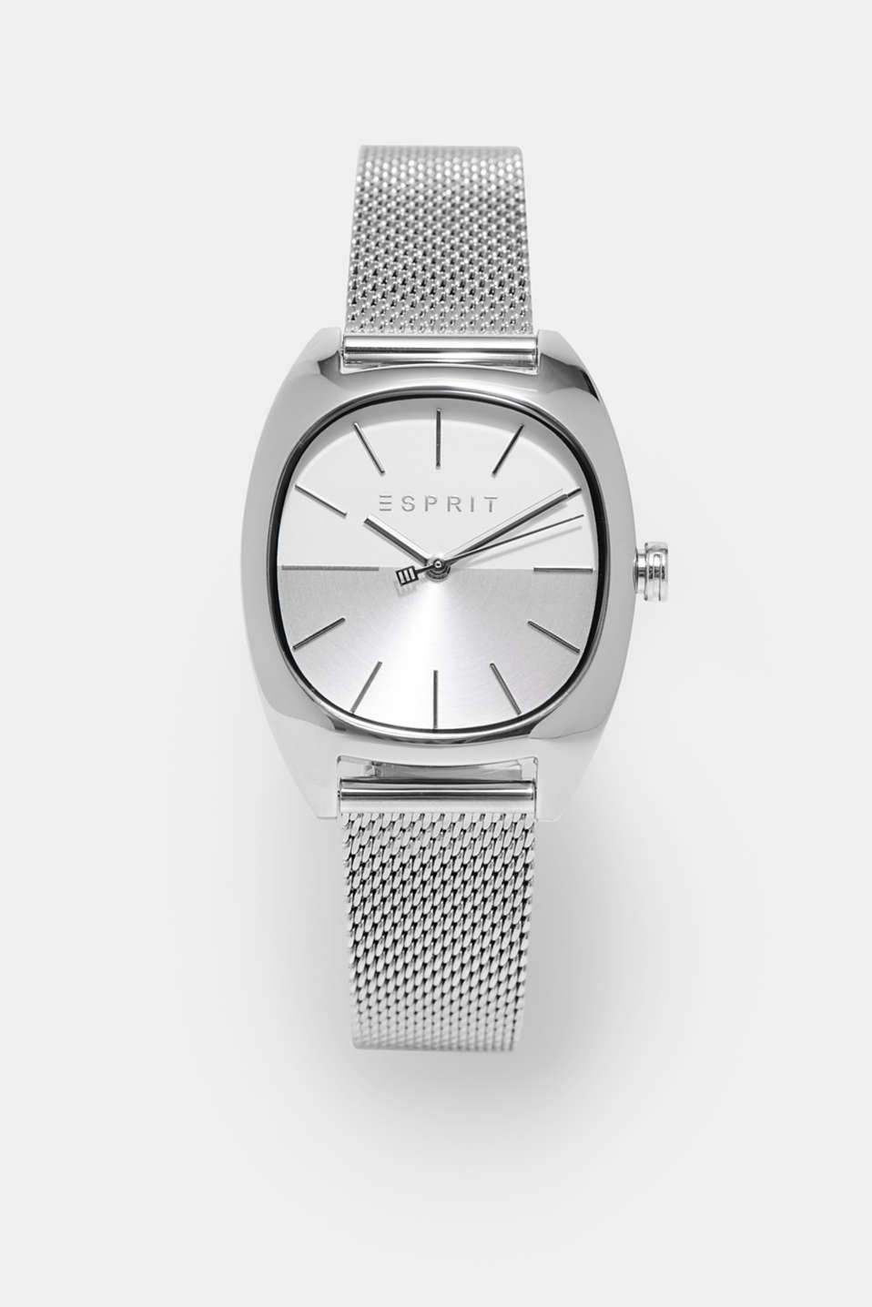 Esprit - Watch with a silver mesh bracelet