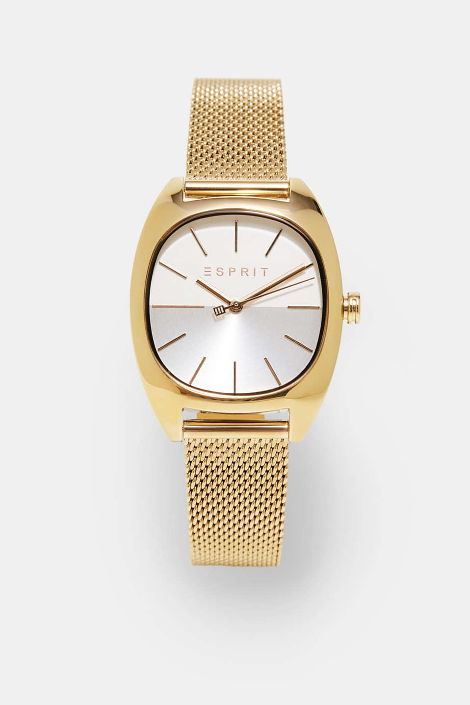 Esprit - Gold-tone watch with a Milanese strap