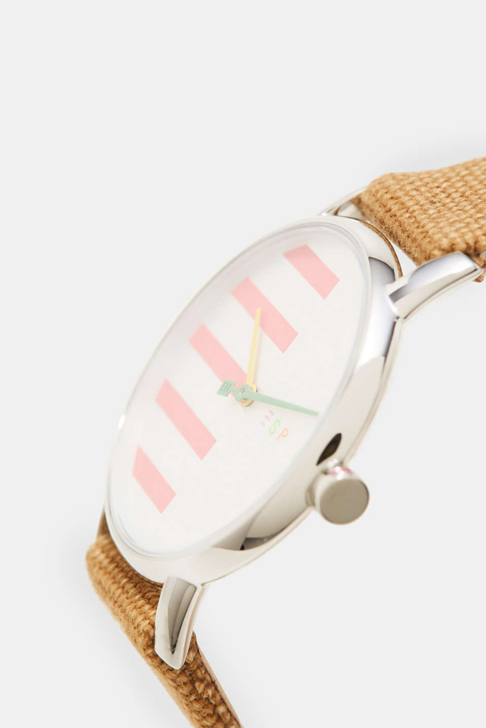 Watch with a canvas strap