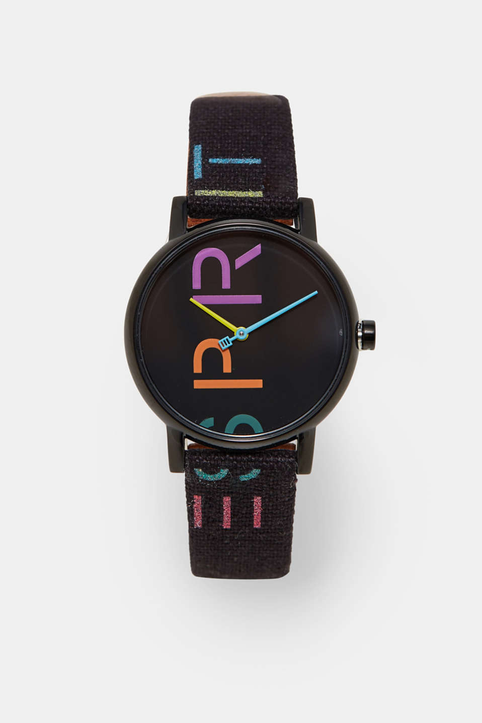 Go logo! Both the dial and strap sport a logo print.
