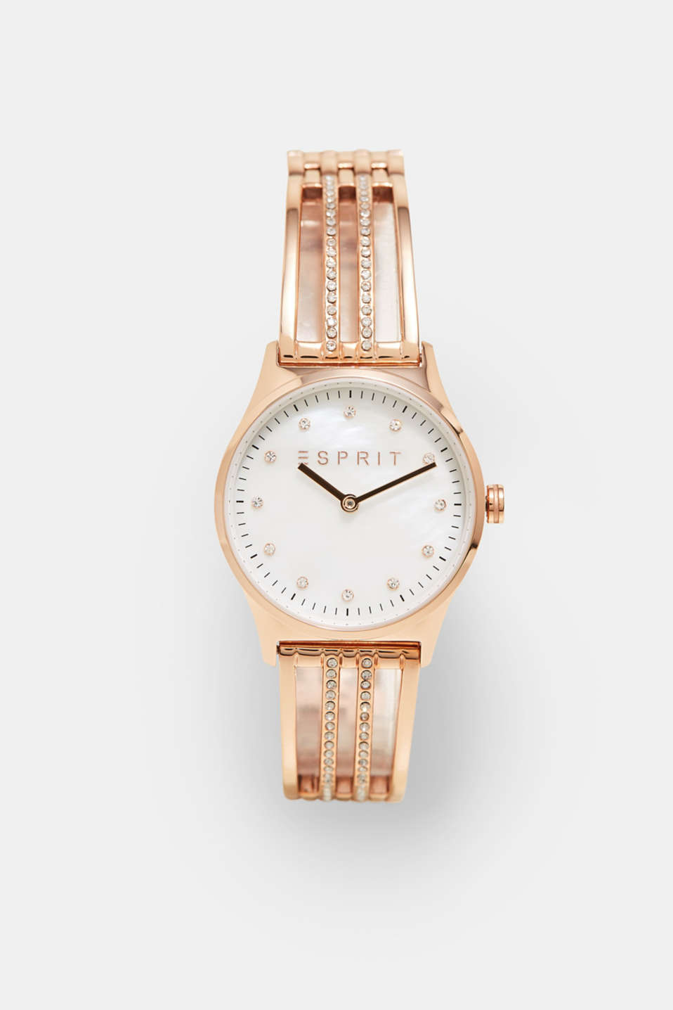 Esprit - Rose gold watch with zirconia