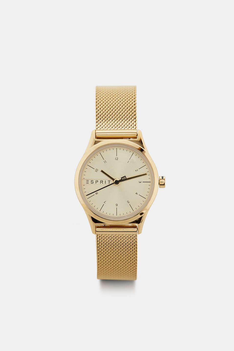 Stainless-steel watch with a mesh strap, GOLD, detail image number 0