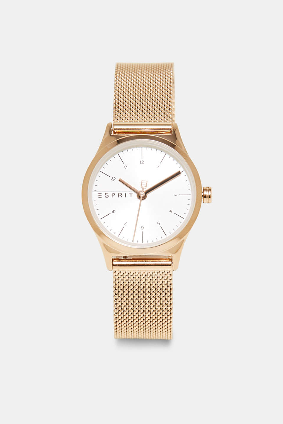 Rose gold watch with a Milanese strap, ROSEGOLD, detail image number 0