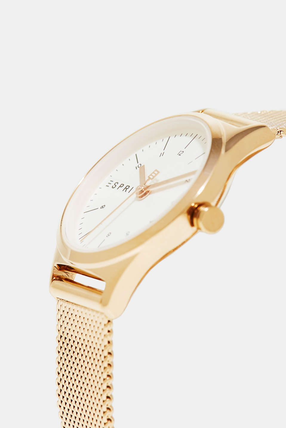 Rose gold watch with a Milanese strap, ROSEGOLD, detail image number 1