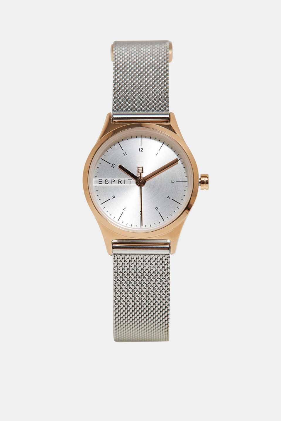 Esprit - Bi-colour watch with a mesh strap made of stainless steel
