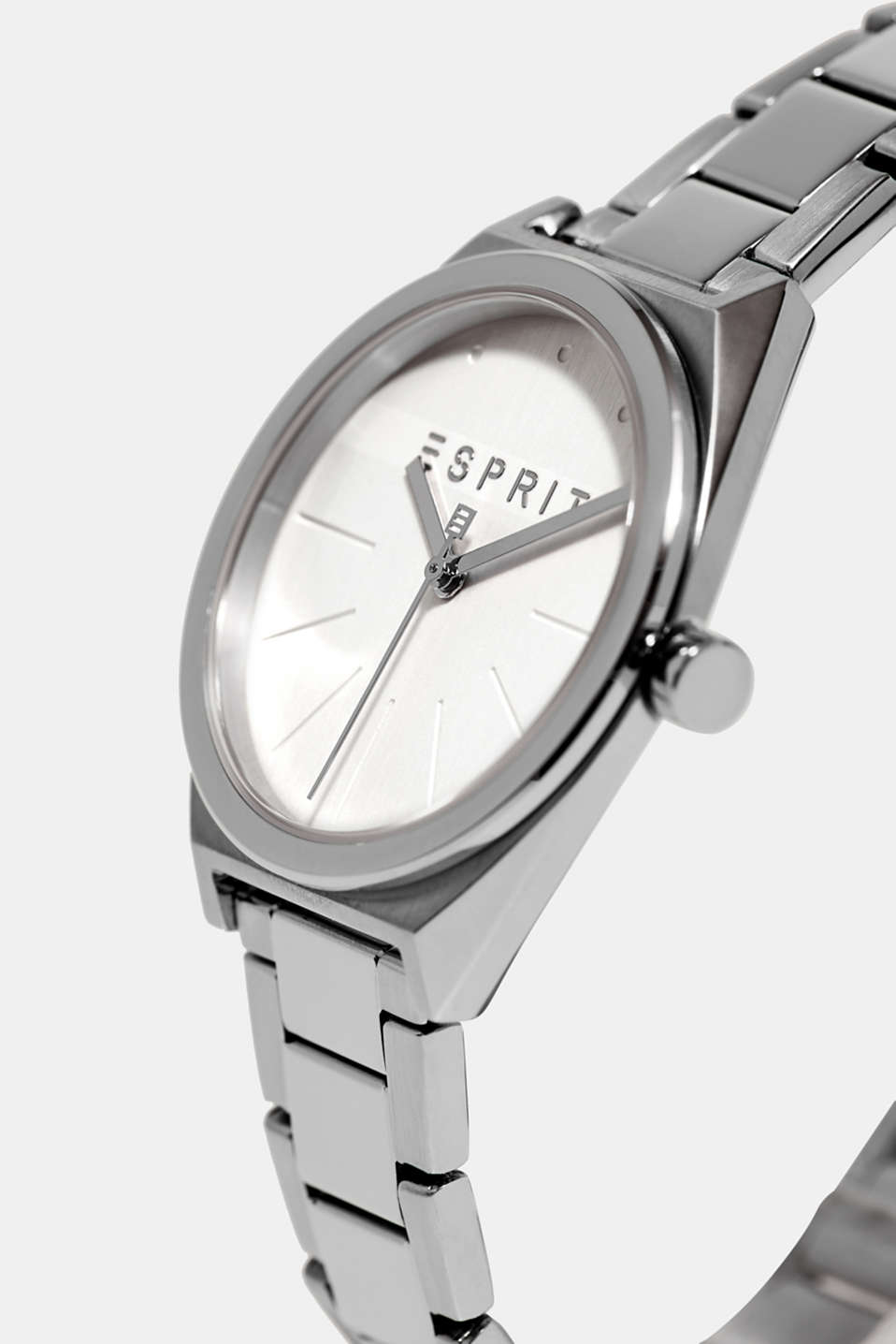 Stainless-steel watch with a link bracelet