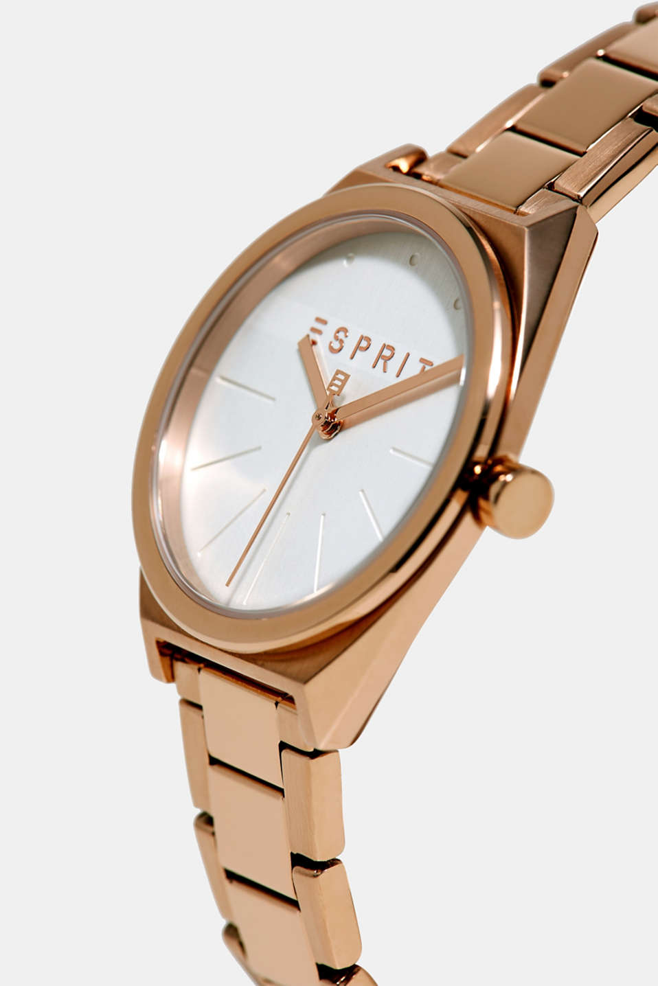 Rose gold stainless steel watch, ROSEGOLD, detail image number 1
