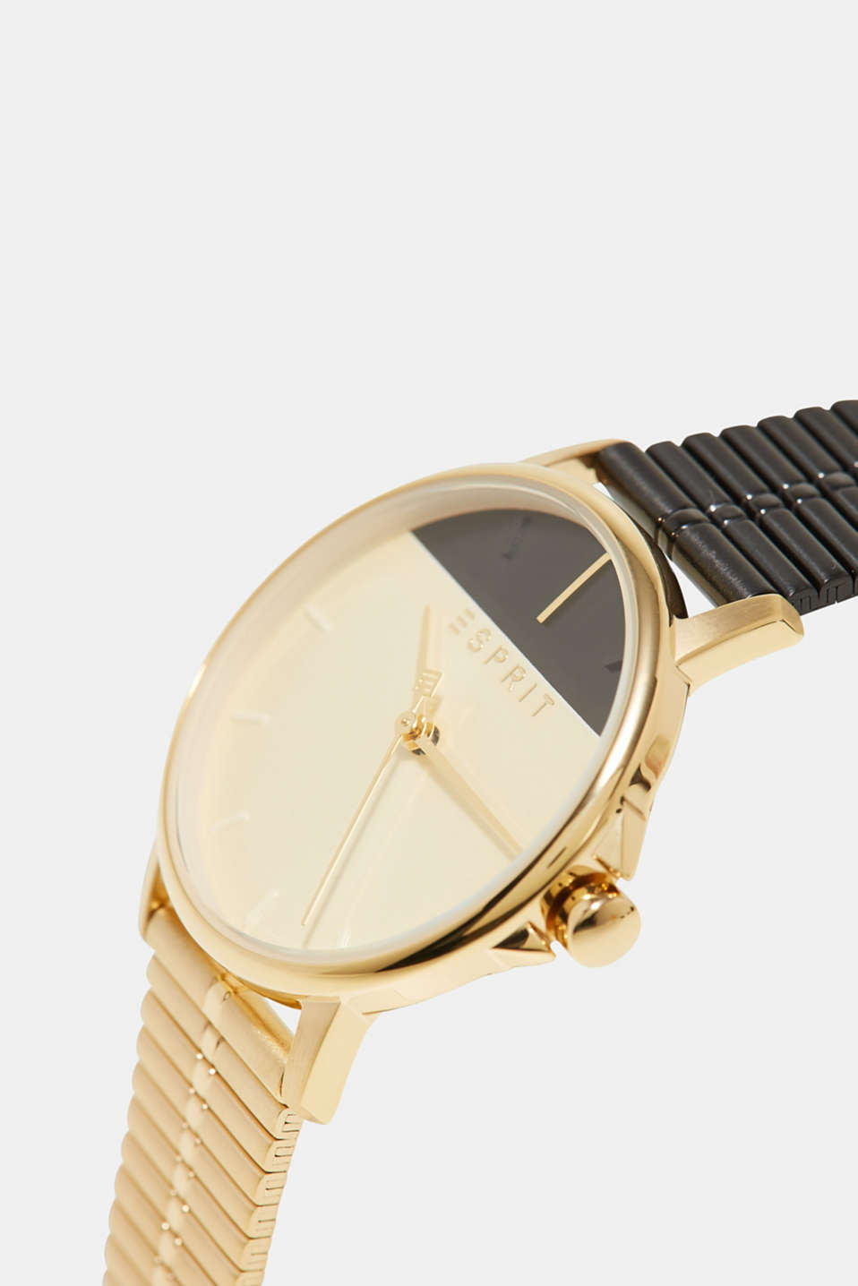 Stainless steel watch in a two-tone look