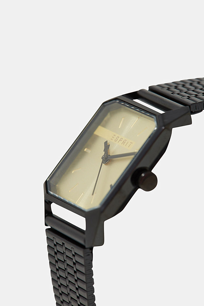 Stainless-steel watch, BLACK, detail image number 1