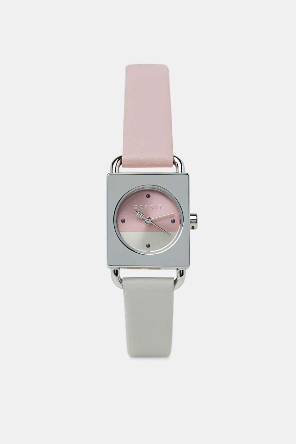 Stainless-steel watch with a leather strap, ROSE, detail image number 0