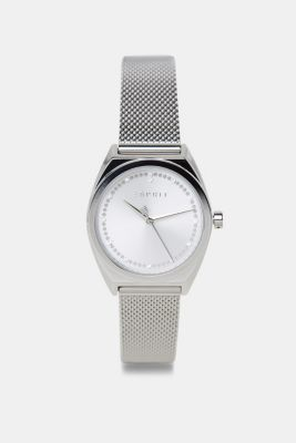 Bracelet and watch set, in stainless steel, SILVER, detail