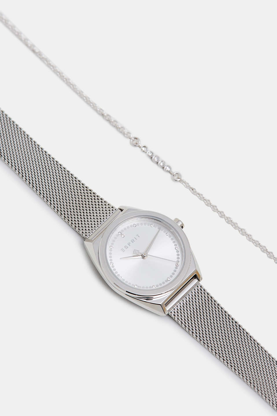 Bracelet and watch set, in stainless steel, SILVER, detail image number 4