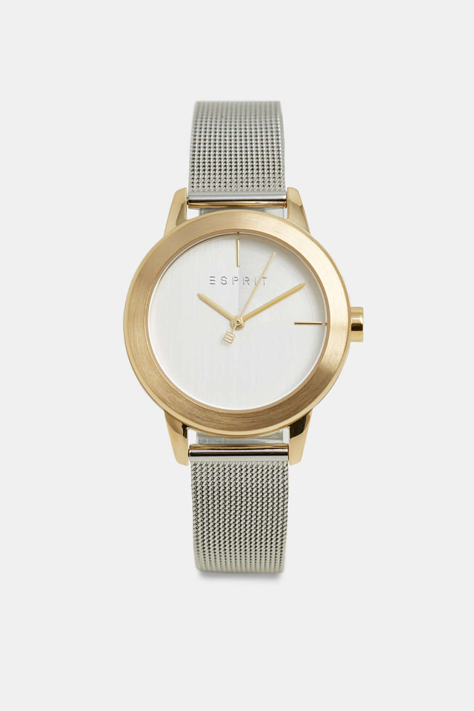 Esprit - Stainless steel watch with a mesh strap