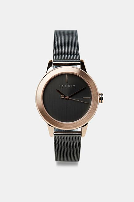 c890aac90139 Reloj de dos colores con pulsera de malla en acero inoxidable
