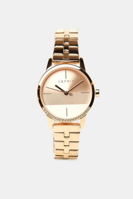 Stainless-steel watch with a link bracelet, ROSEGOLD, detail