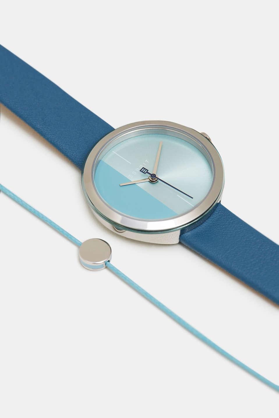 Bracelet and watch set, BLUE, detail image number 1