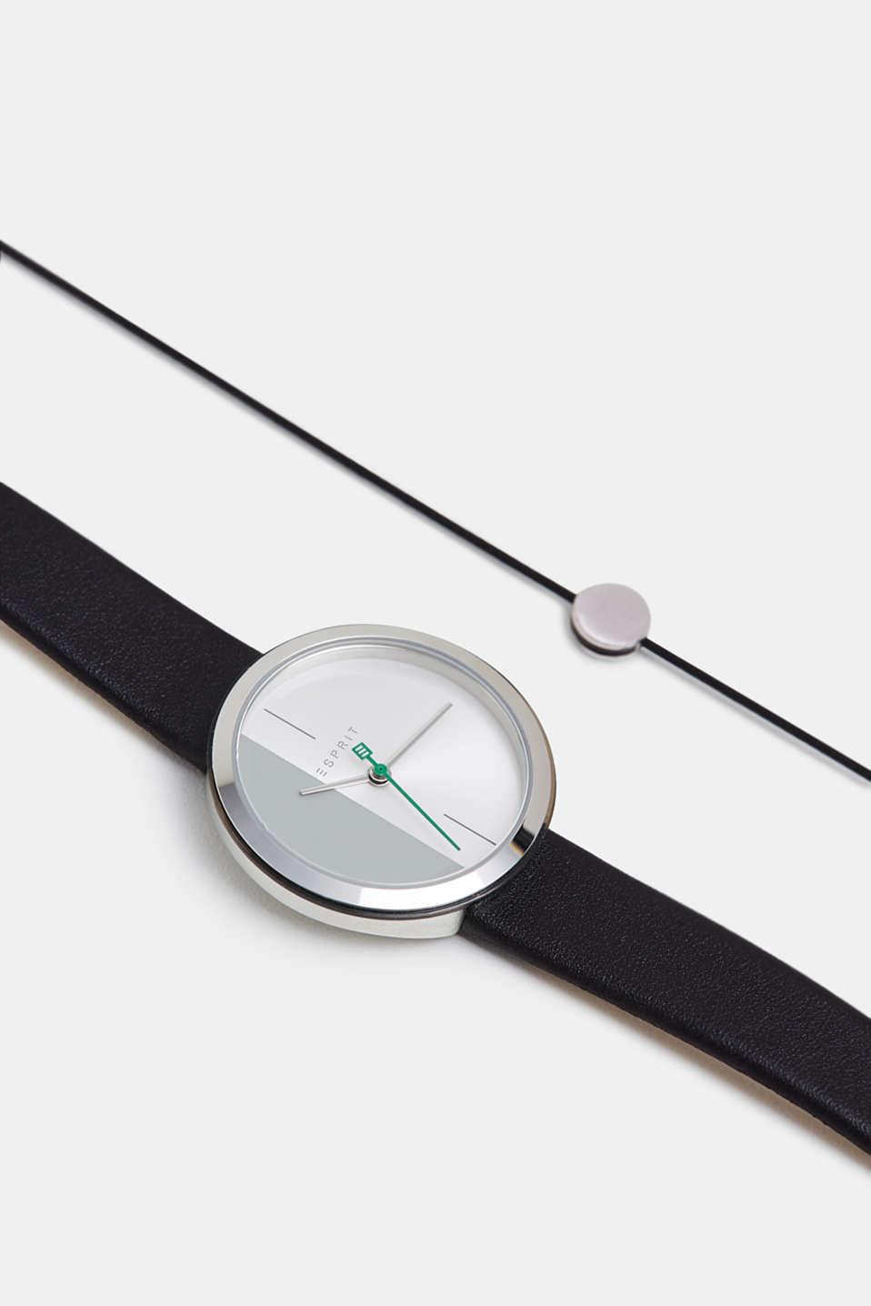Bracelet and watch set, BLACK, detail image number 4