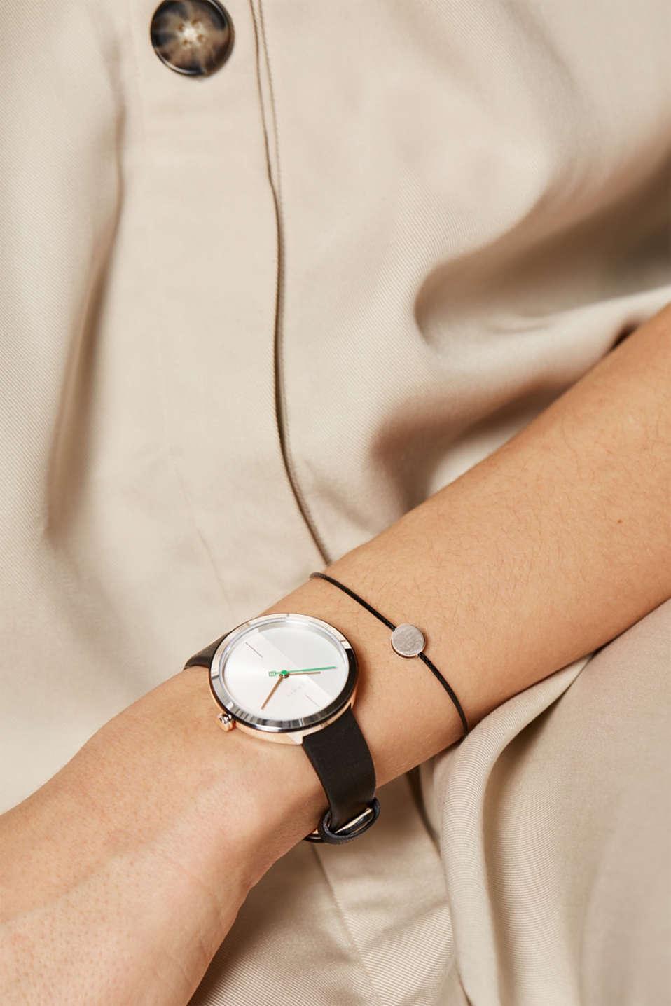 Bracelet and watch set, BLACK, detail image number 2