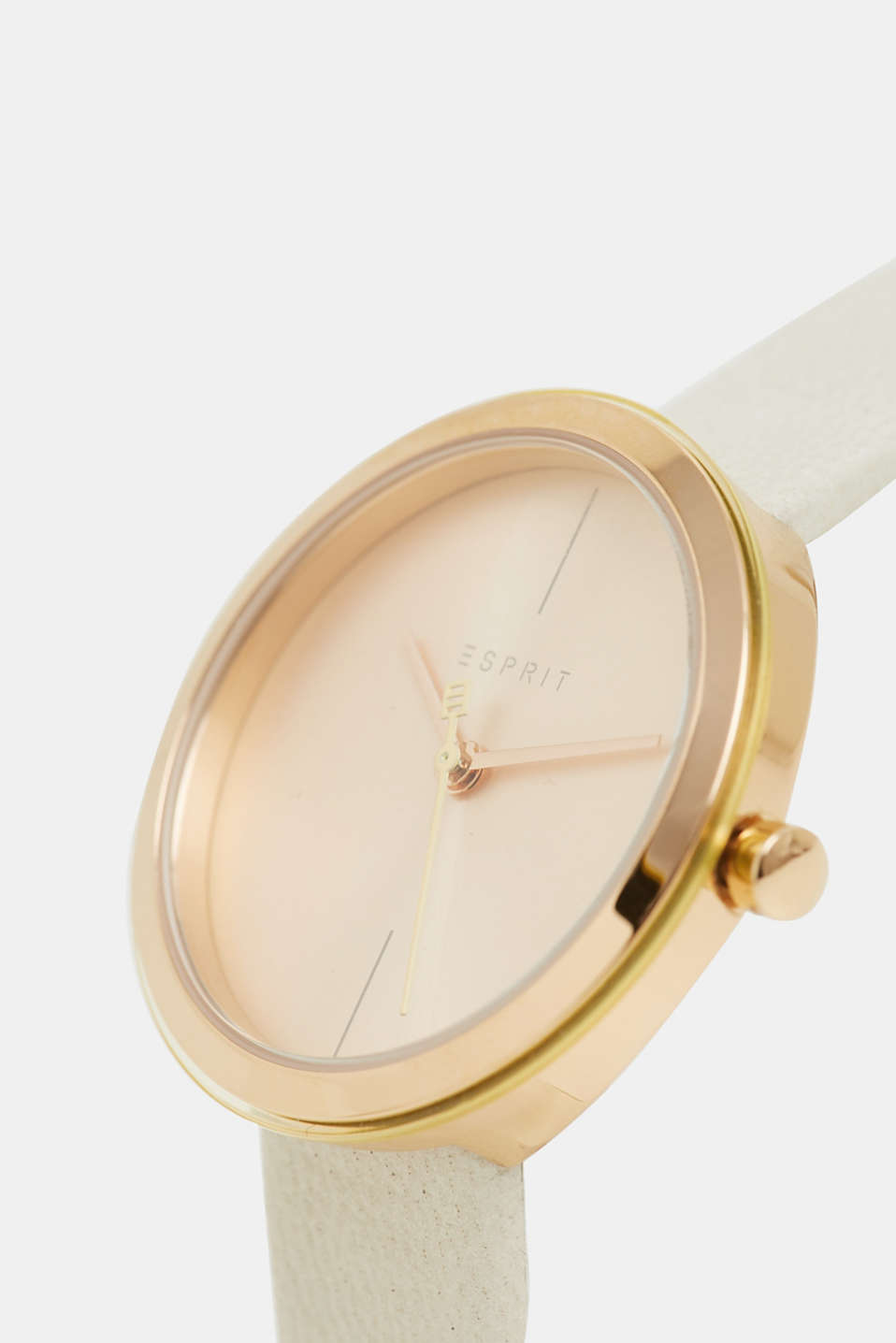 Set comprising watch and bracelet, stainless steel, BEIGE, detail image number 1