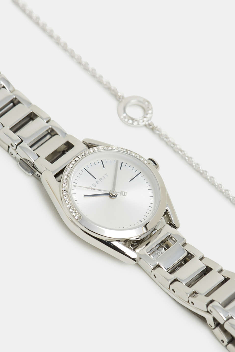 Esprit - Watch and zirconia-trimmed bracelet set