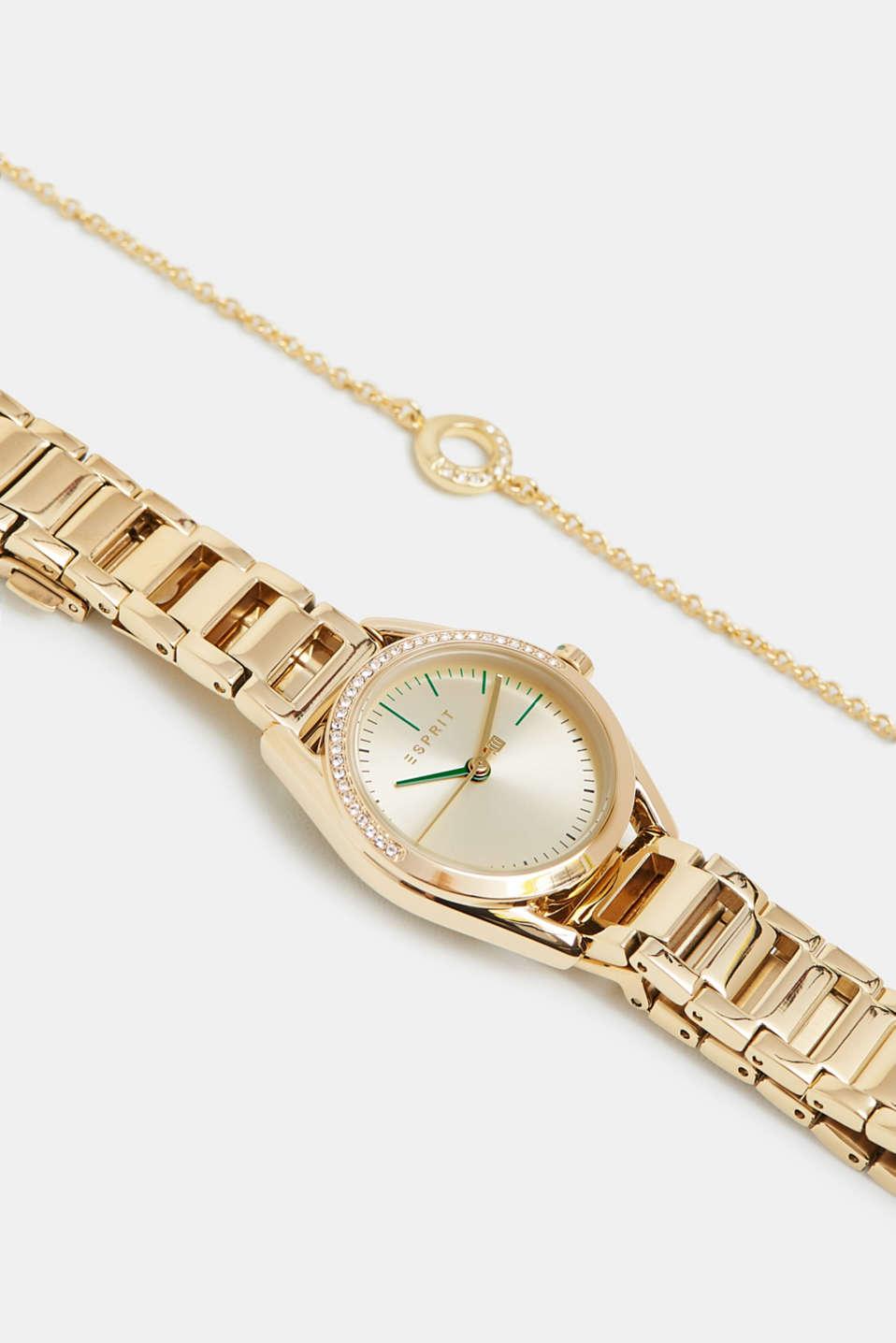 Watch and bracelet set, GOLD, detail image number 4