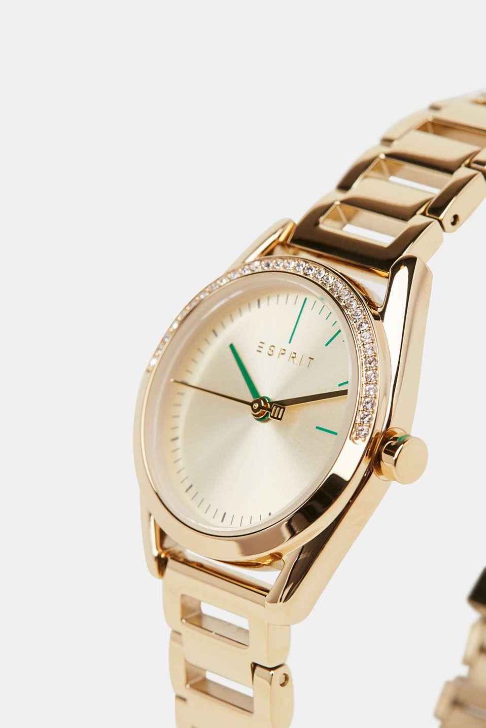 Watch and bracelet set, GOLD, detail image number 1