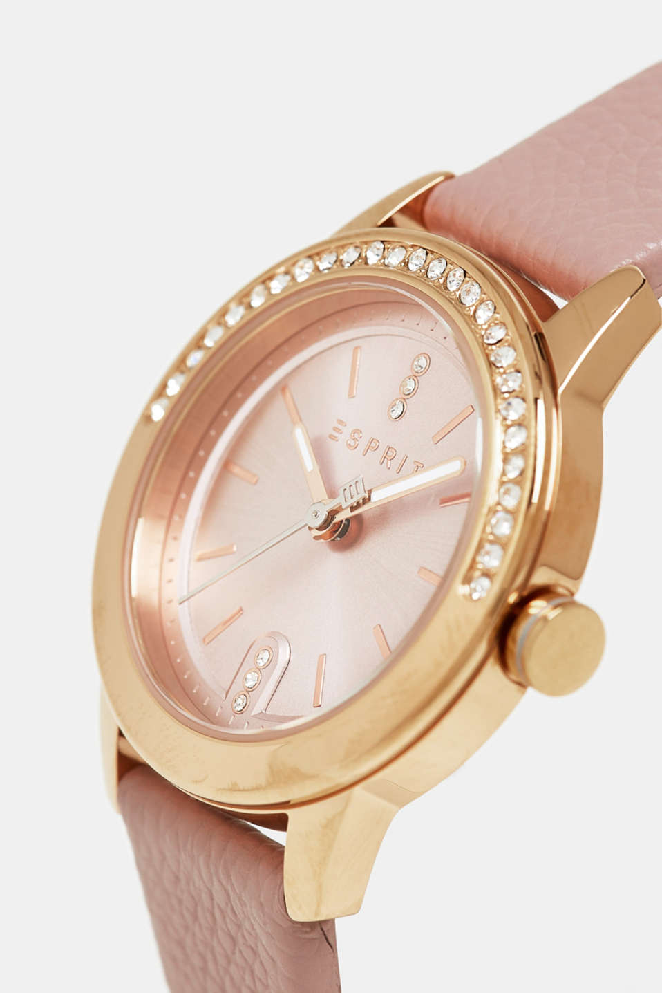Stainless steel watch with zirconia, ROSE, detail image number 1