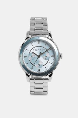 Multi-functional watch with a link strap, SILVER, detail