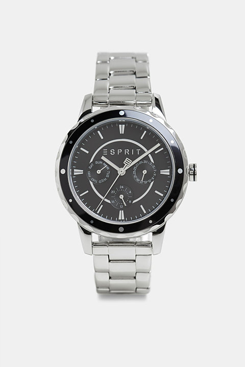 Multi-functional watch with a link strap