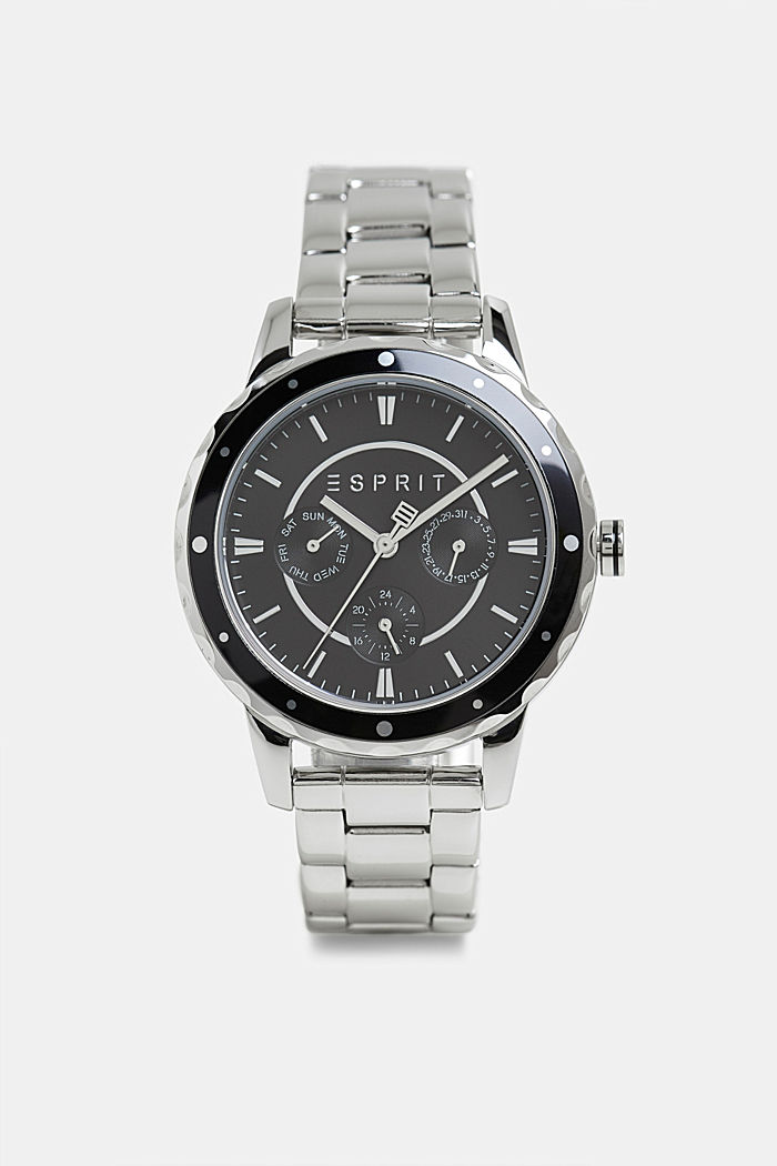 Multi-functional watch with a link strap, SILVER, detail image number 0