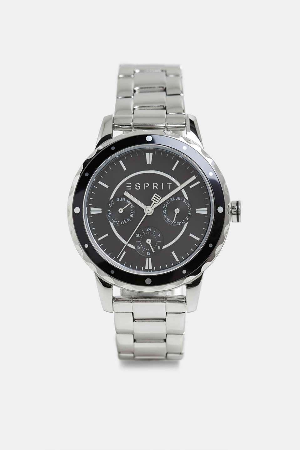 Esprit - Multi-functional watch with a link strap