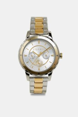 Two-tone multi-functional watch with a link strap, GOLD, detail